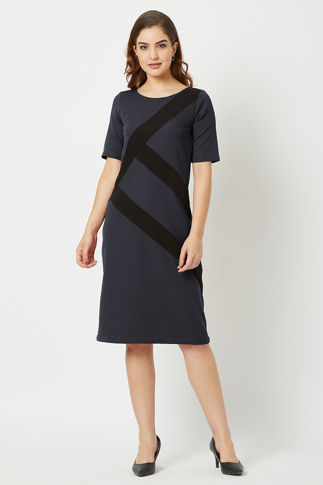 Dresses-Ethical-Grey-ColorBlockdress